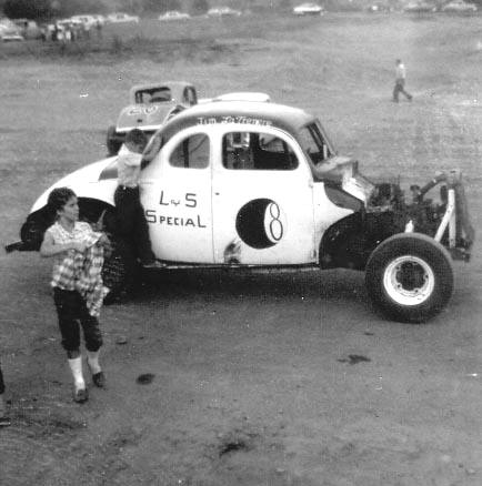 Auto Racing Photos on Old Northfield Vermont Track In 1961 Typifies The Vintage Racing We